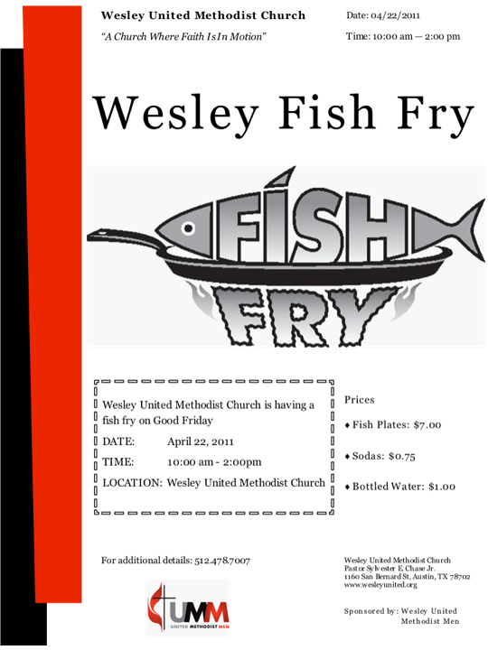 6 Images of Free Printable Fish Fry Flyer