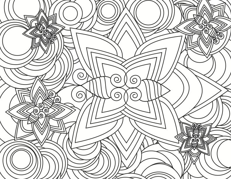 4 Images of Strange Advanced Coloring Pages Printable