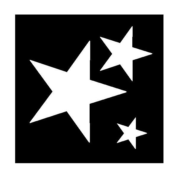 6 best images of different size star stencils printable