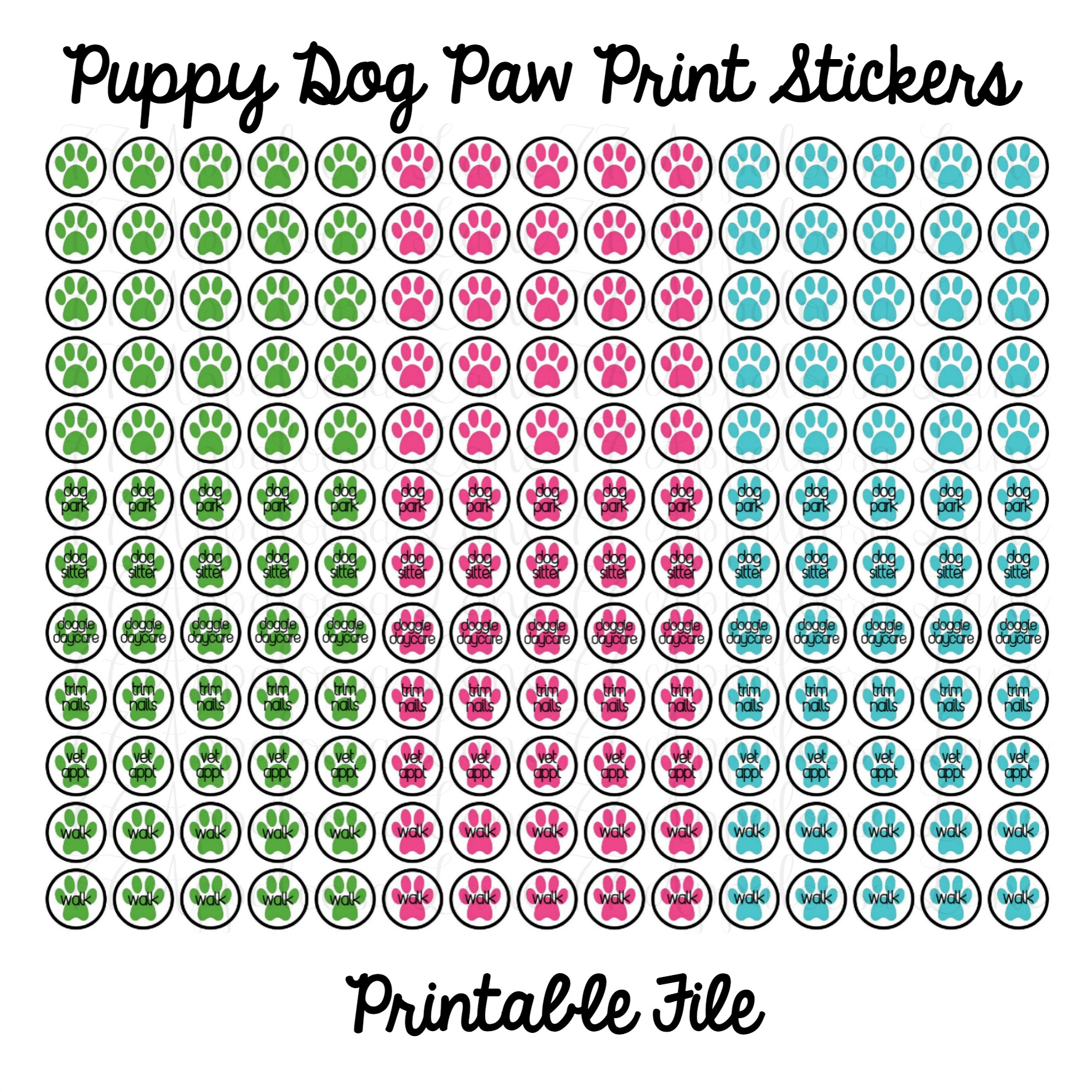 7 Images of Printable Sticker Sheets Dogs