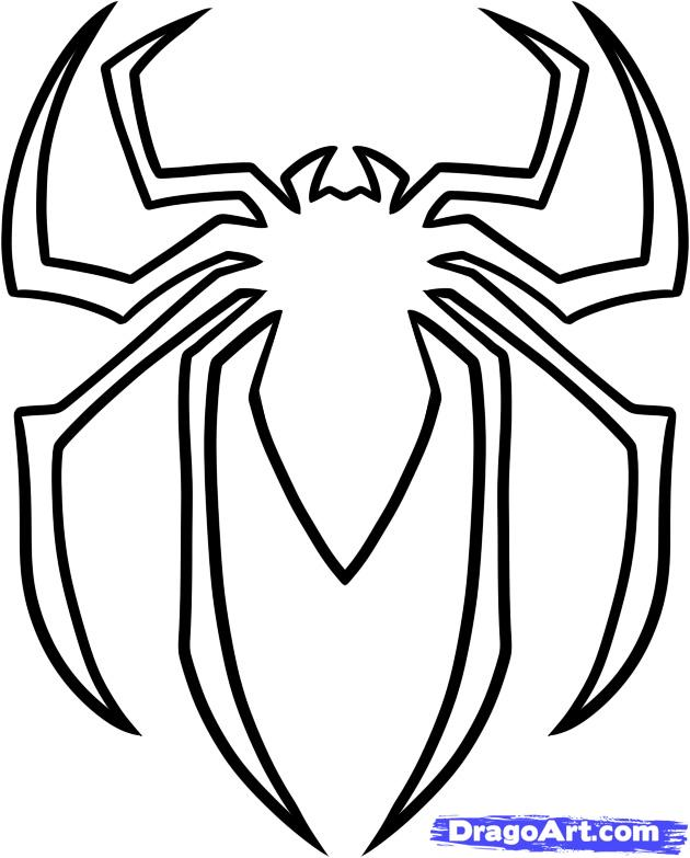 8 Best Images of Printable Spider-Man Symbol - Spider-Man ...