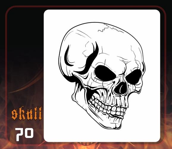 Evil Skull Airbrush Stencils