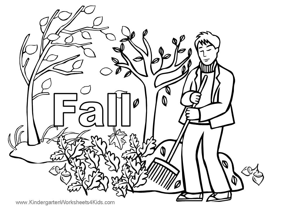5 Images of Fall Coloring Pages Printable