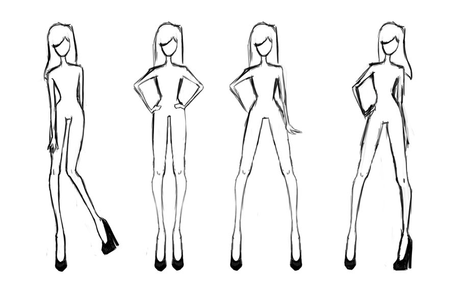 8 Best Images Of Printable Clothing Design Templates Fashion Sketch Body Template Printable
