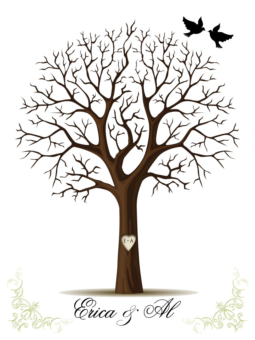 5 best images of free printable fingerprint tree template fingerprint tree template baby