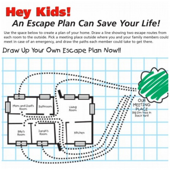 Home safety plan worksheet home design and style Home fire safety plan