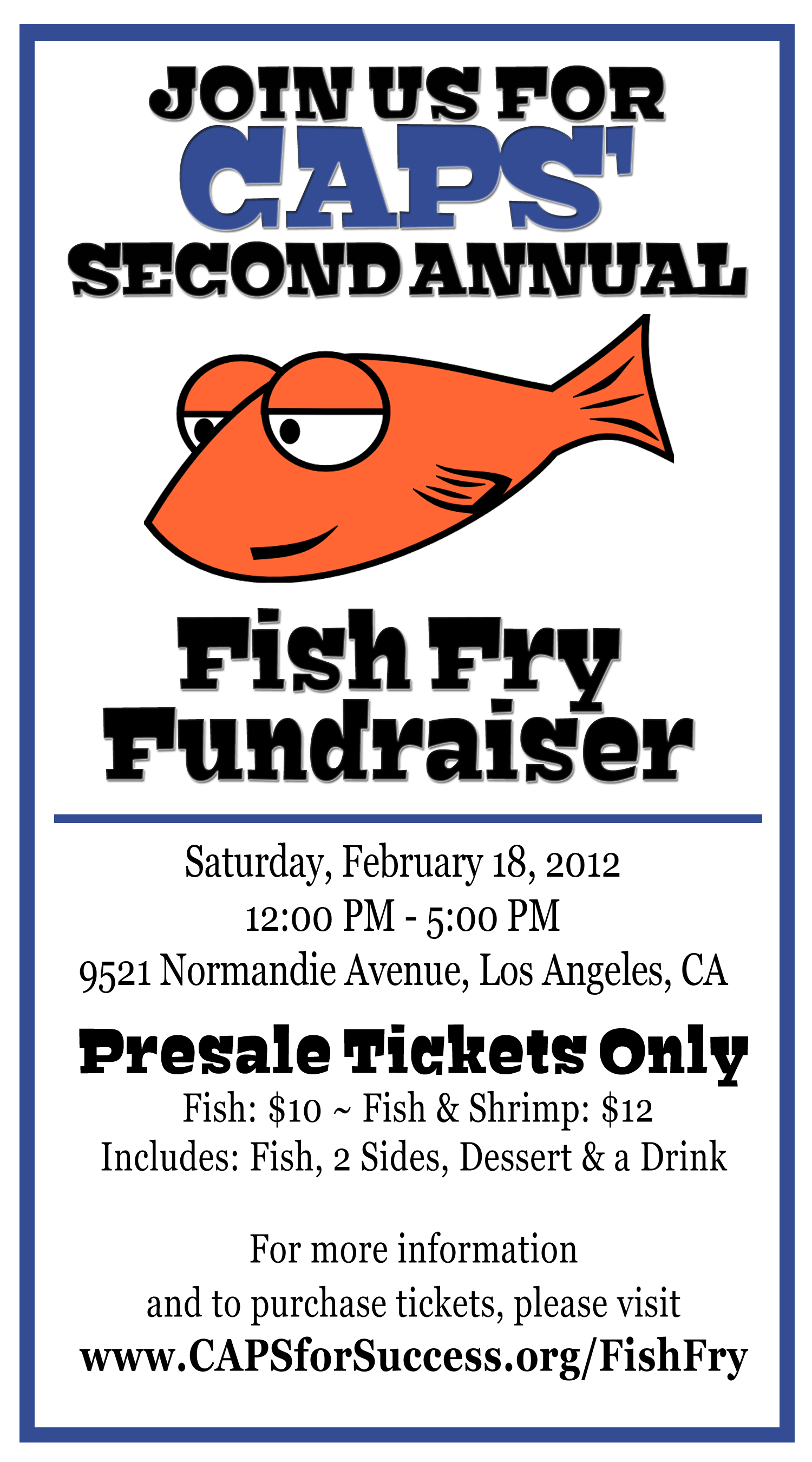 6 best images of free printable fish fry flyer church