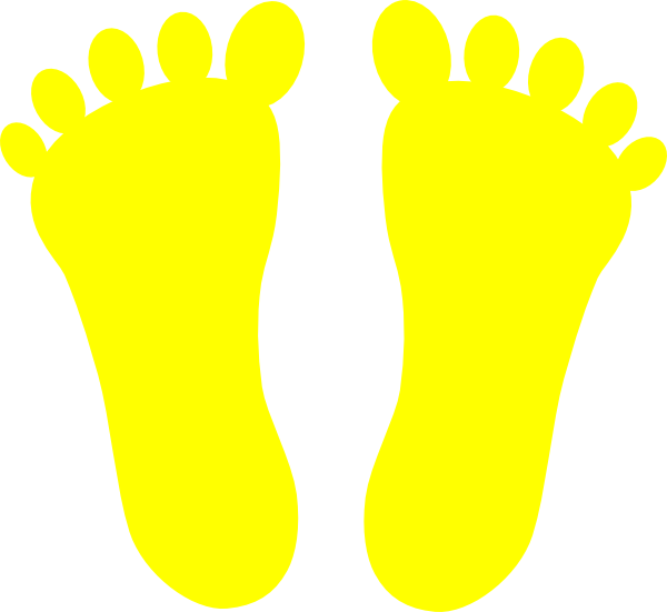 8 Images of Yellow Printable Baby Footprints