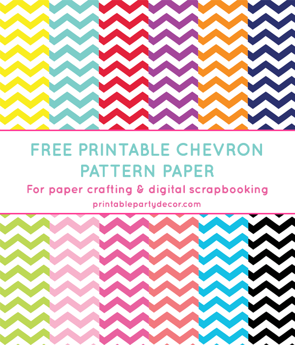 7 Images of Free Chevron Printables