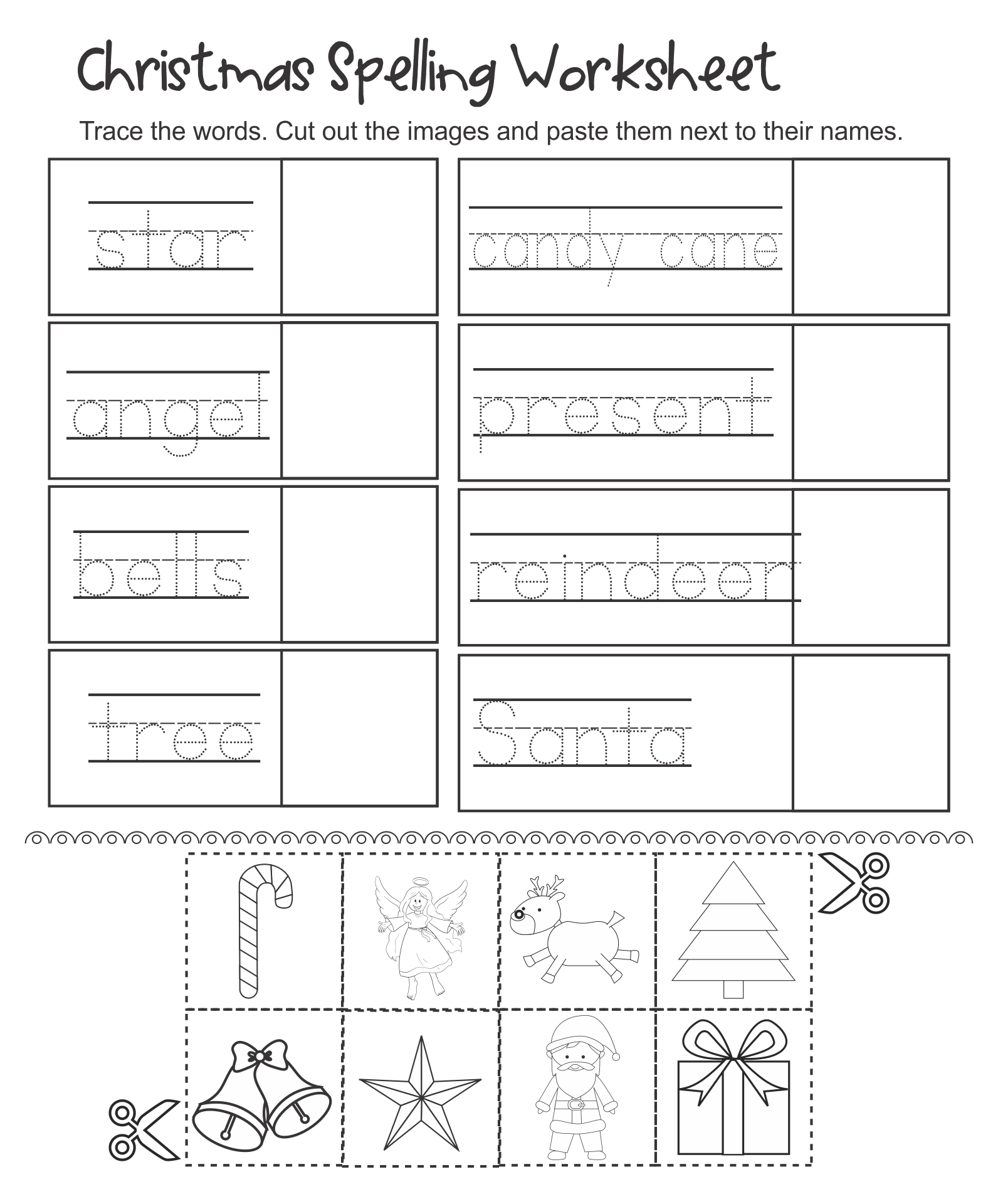 7 Images of Kindergarten Christmas Activities Free Printable