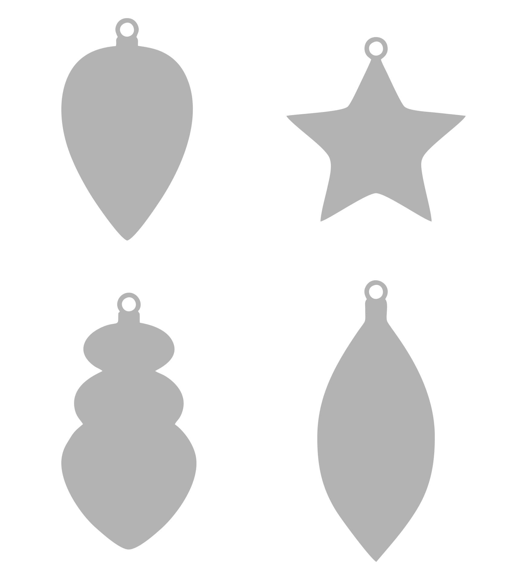 Christmas Ornament Stencils
