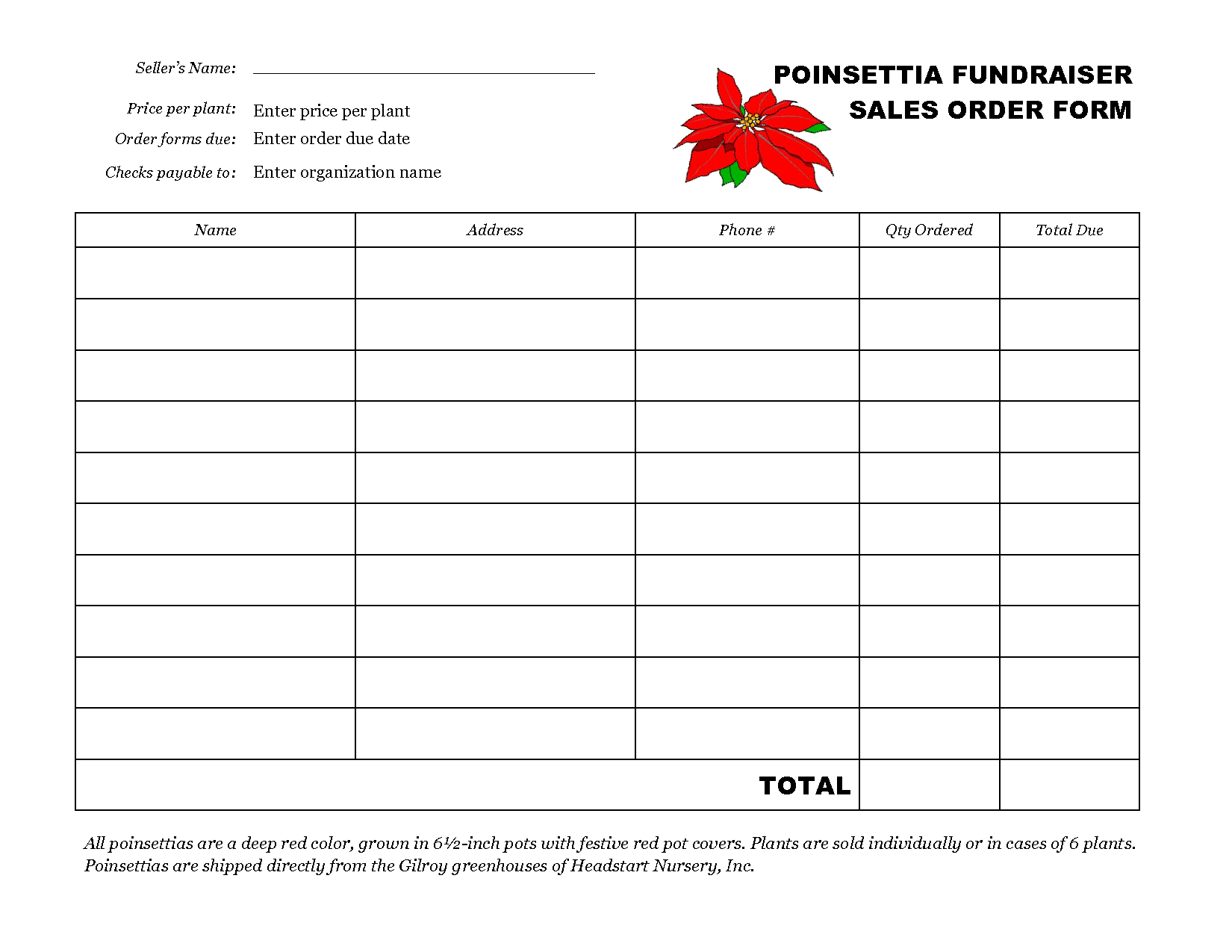 Fundraising Form Template free printable affidavit form thank you – Order Forms Templates Free Word