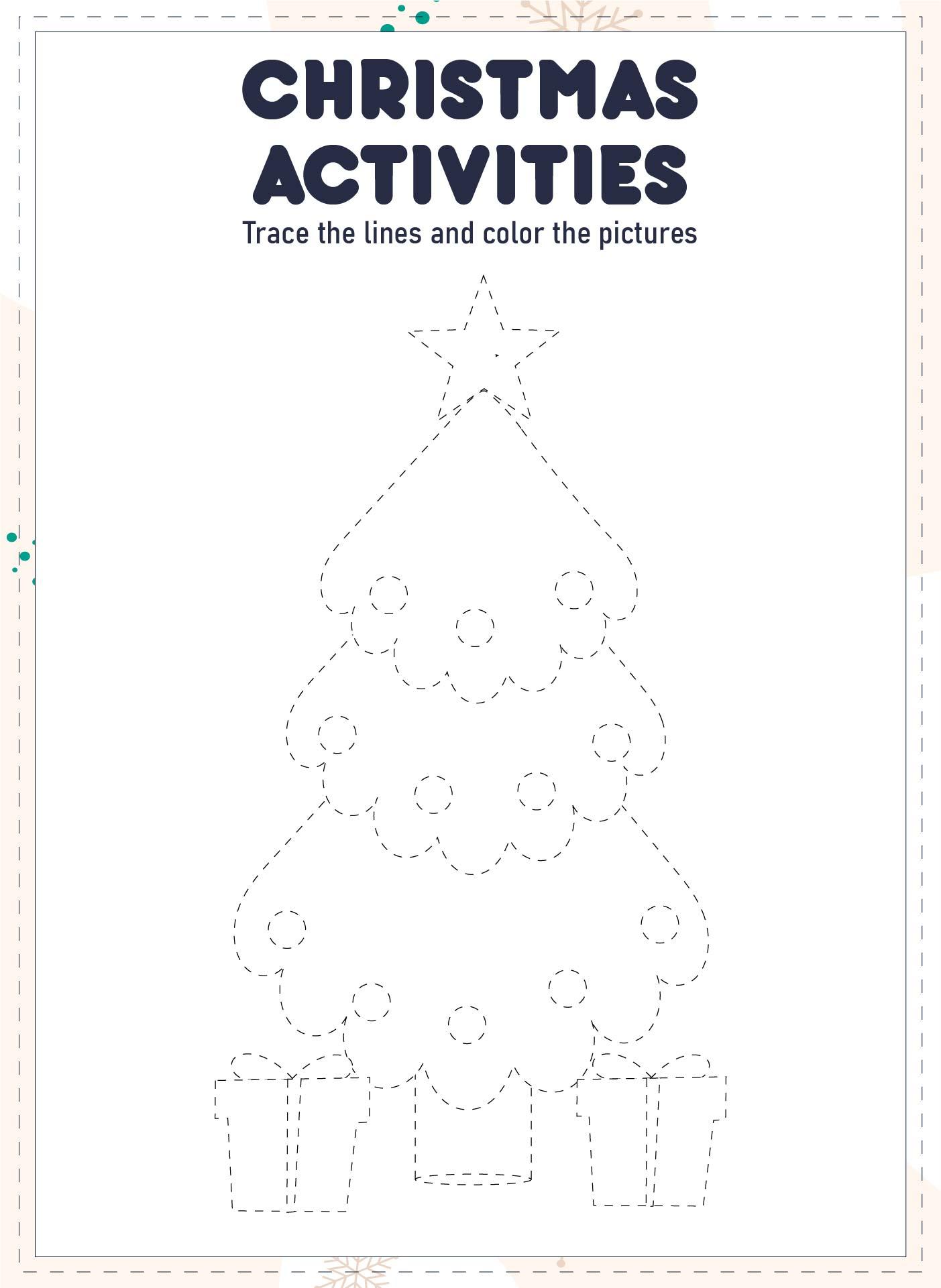 Number Names Worksheets free christmas work sheets : Kindergarten Christmas Activity Worksheets - Worksheets for Kids ...