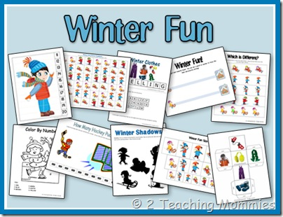 5 Images of Snow Preschool Printables