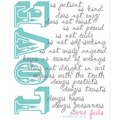 Free Printable 1 Corinthians 13