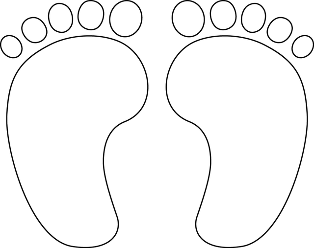 8 best images of yellow printable baby footprints for Bear footprints template