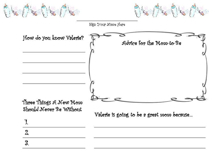 7 Images of Printable Baby Shower Guest Book