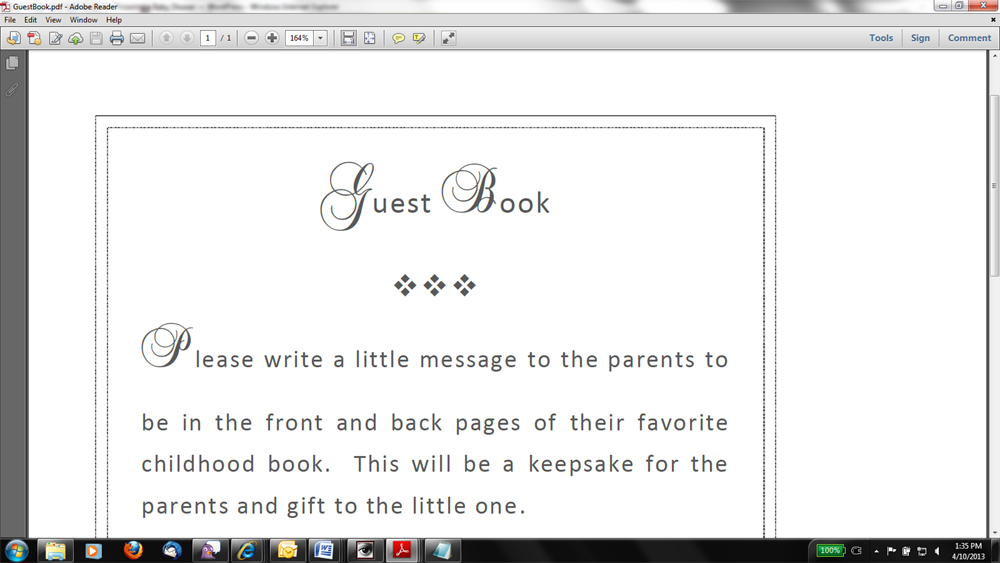 7 best images of printable baby shower guest book free for Free printable baby book templates