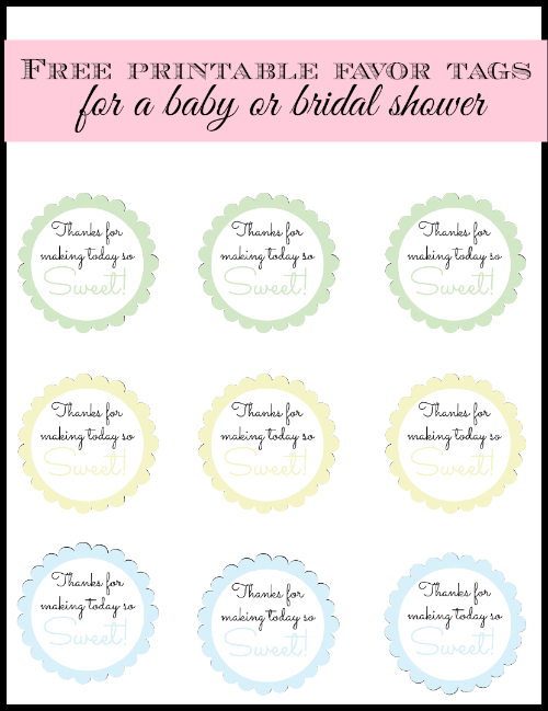 4 Images of Free Printable Baby Shower Favor Tags Thanks So For Today Sweet Making