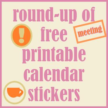 Free Printable Calendar Reminder Stickers