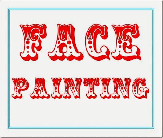 6 Images of Printable Face Painting Carnival Sign