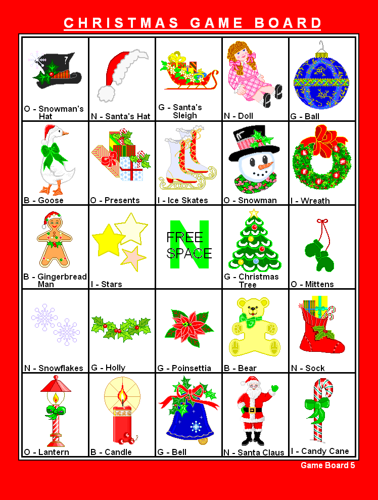 7 Images of Printable Nativity Bingo Game