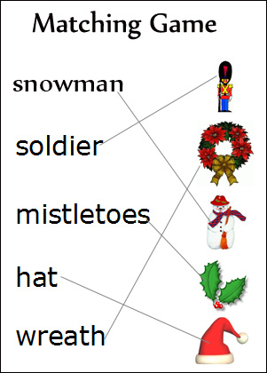 7 Best Images of Kids Christmas Matching Games Printable - Free ...