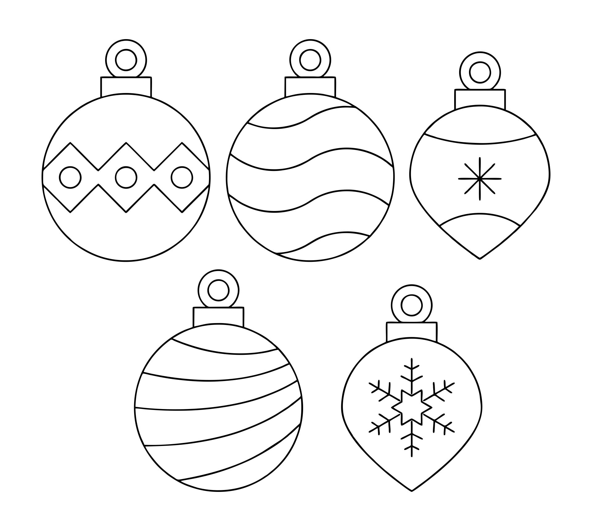 Printable Christmas Ornament Stencils