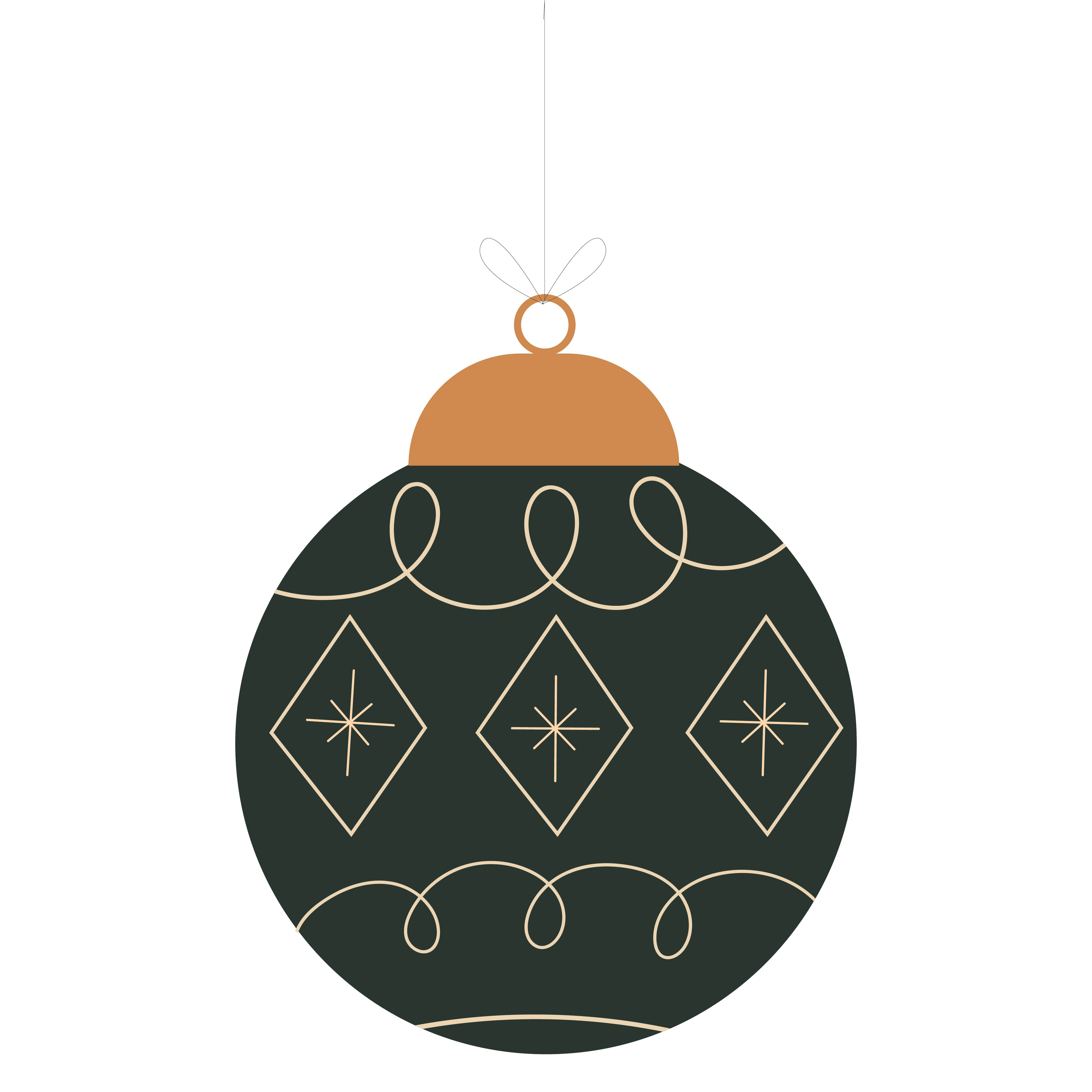 8 Images of Christmas Ornament Stencils Printable