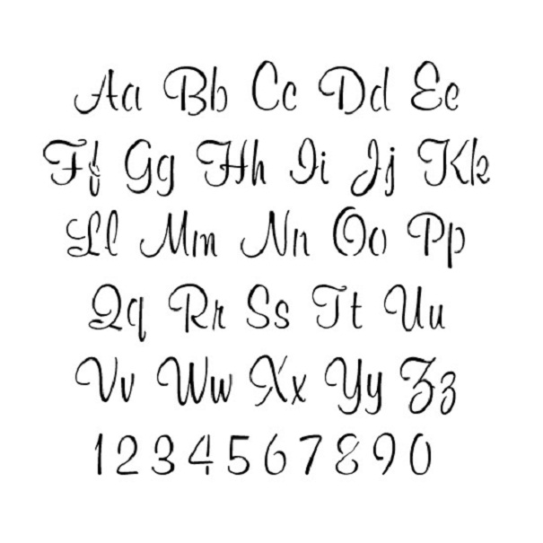 8 Images of Free Printable Cursive Stencils Letters And Numbers