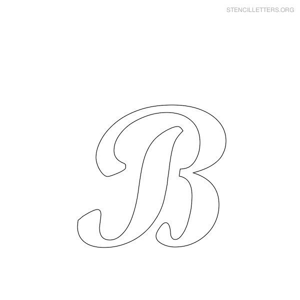 6 Images of Printable Letter B Stencil