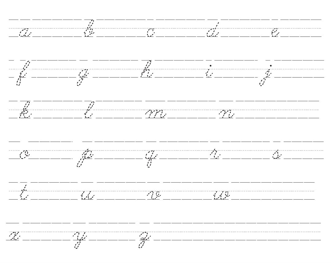 Cursive Lower Case Letters Printables