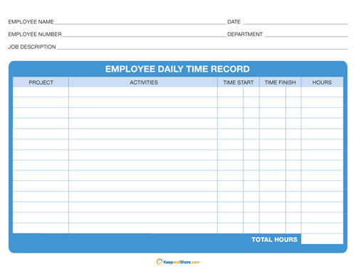 daily timesheet template free