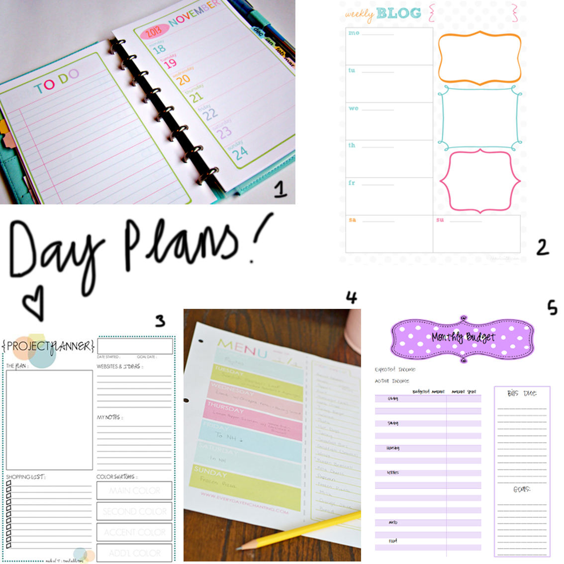 7 Best Images of Free Printable Planner Inserts - Free ...