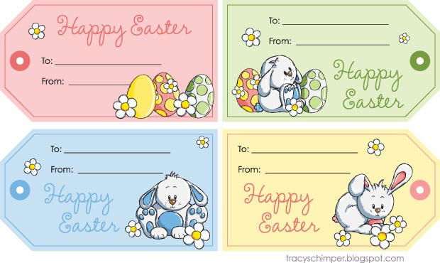 4 Images of Happy Easter Gift Tags Free Printables