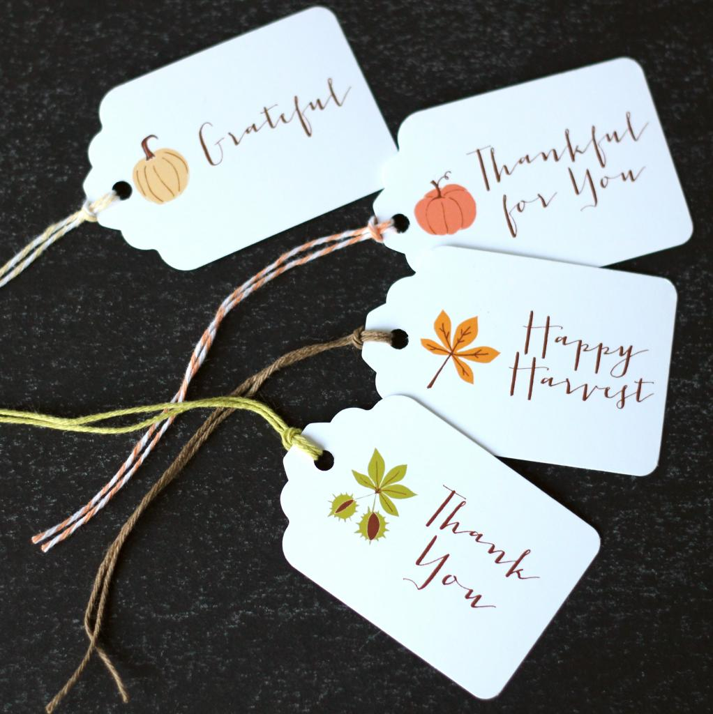 4 Images of Harvest Free Printable Tags