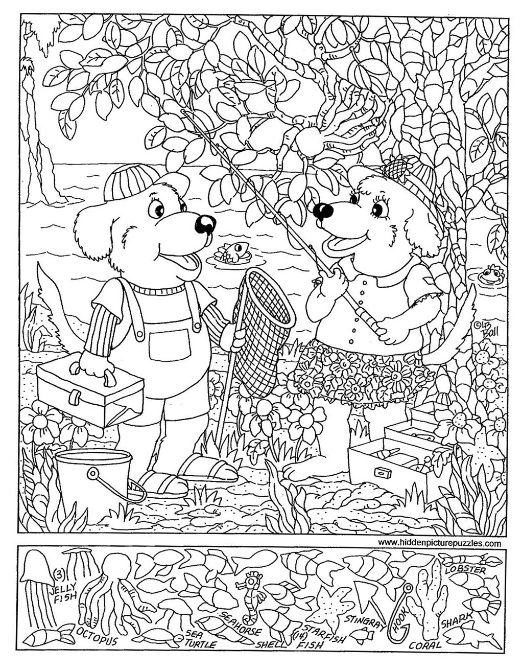 Printable Hidden Picture Pages
