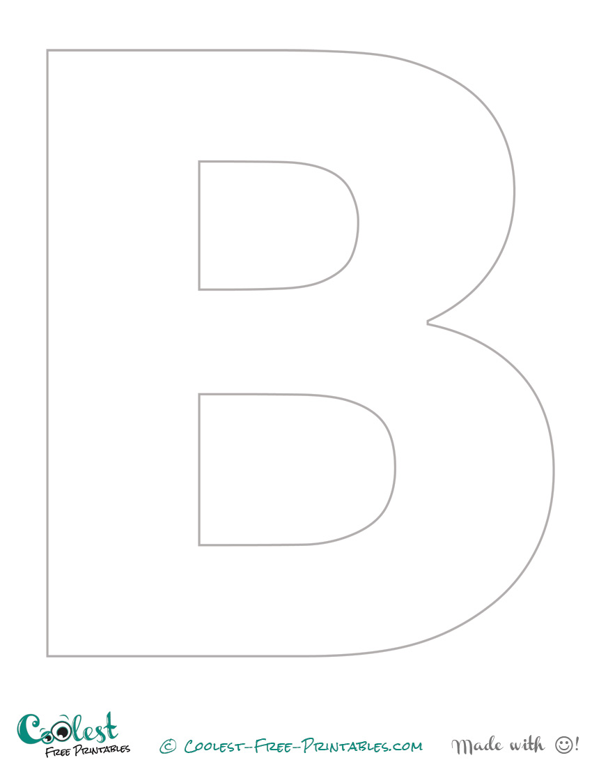 6 best images of printable letter b stencil free for Free printable alphabet templates