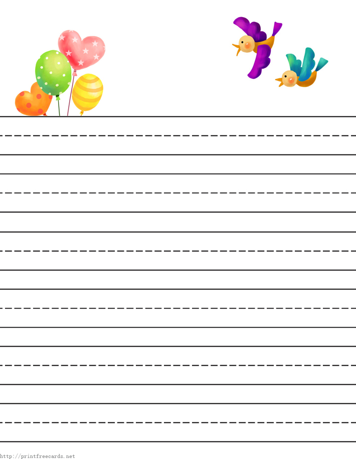 printable writing paper with lines for first grade – Print Lined Writing Paper