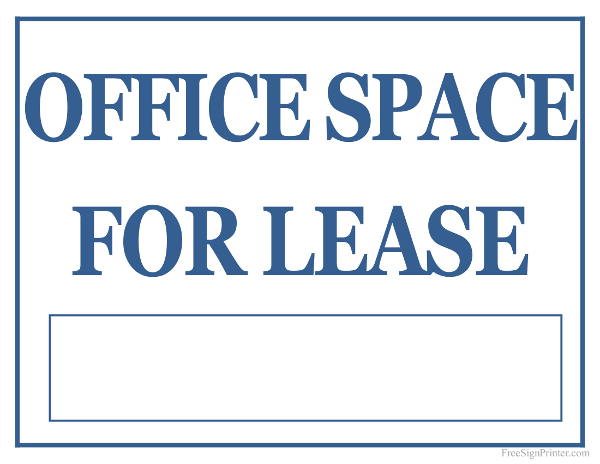Free Printable Office Signs