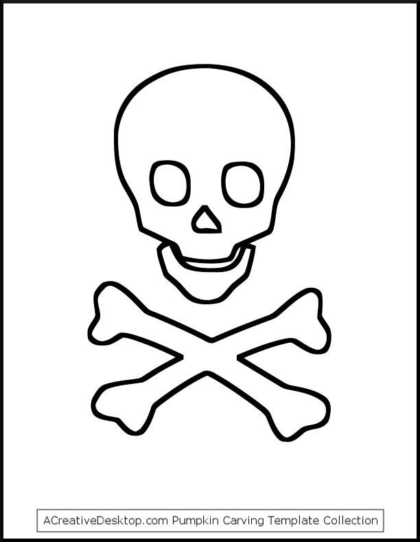 Free Printable Skull and Crossbones