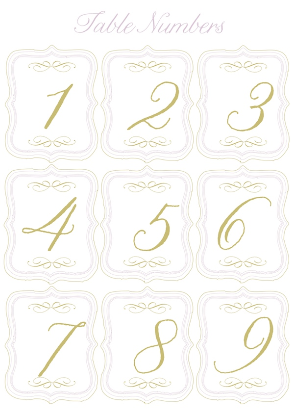 5 best images of round table numbers printable printable for Table numbers for wedding reception templates