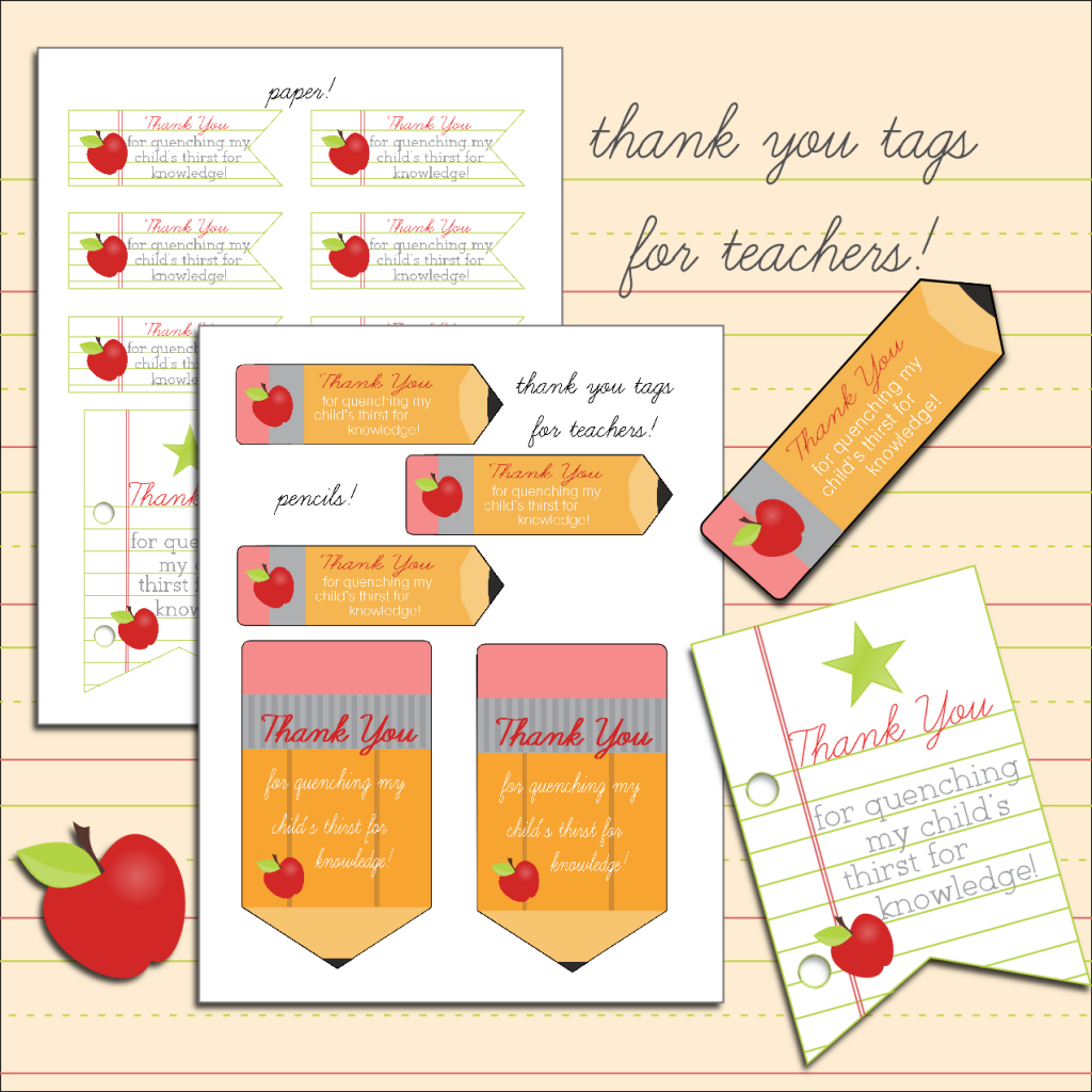 8 Images of Teacher Thank You Printables