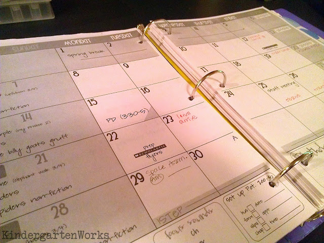 Free Printable Teacher Planning Calendar for 2015