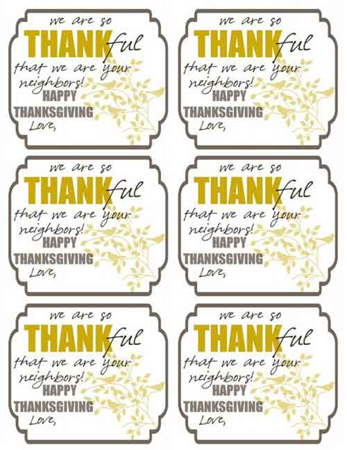 7 Images of Happy Thanksgiving Gift Tags Printable