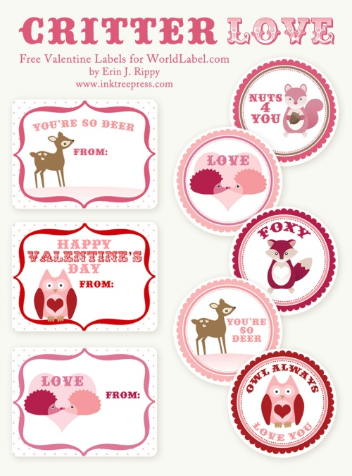 6 Images of Valentine's Printable Labels Avery