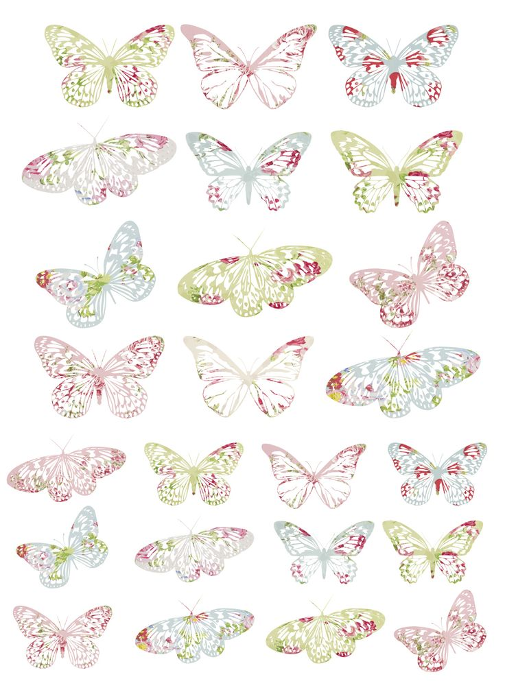 7 Images of Printable Vintage Butterflies And Bird