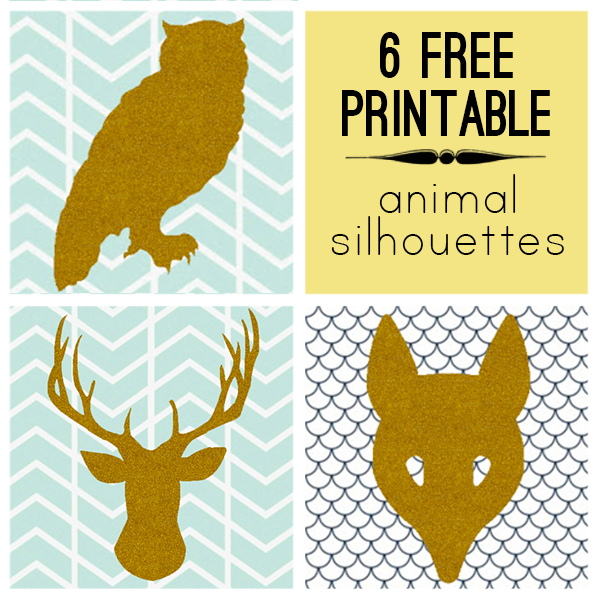 Free Printable Woodland Animal Silhouette