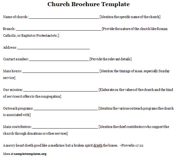 6 best images of free printable church program template free church program templates free for Free printable church program template