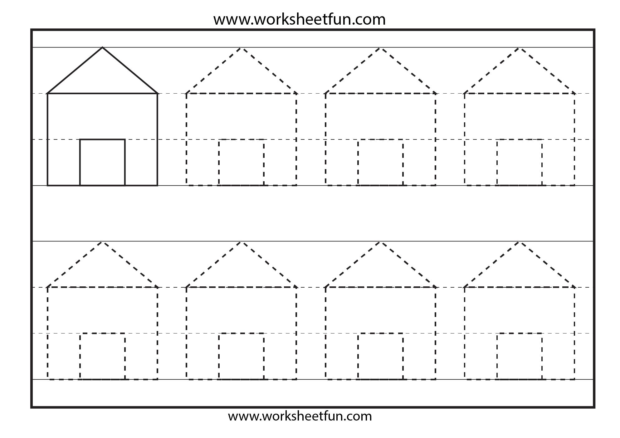 Kindergarten Tracing Worksheets : Pre k tracing shapes worksheets lines early